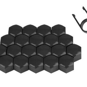 Matt Wheel Black Nuts Bolts Caps Covers