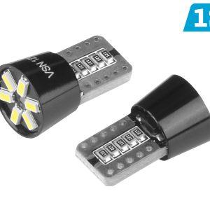 2 x T10 6 x 3014 SMD LED Bulbs