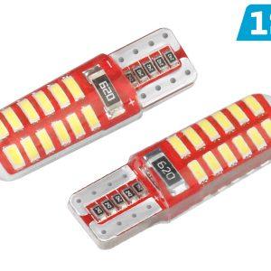 2 x T10 W5W 12V 24 x SMD LED Bulbs