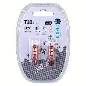 2 x T10 W5W 12V 15 x SMD LED Bulbs